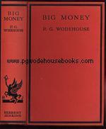 PG Wodehouse Big Money